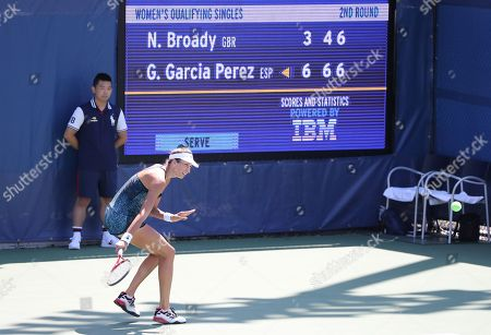Stock Picture of Georgina García Pérez from Spain beats Great Britain's Naomi Broady in and Qualifying round