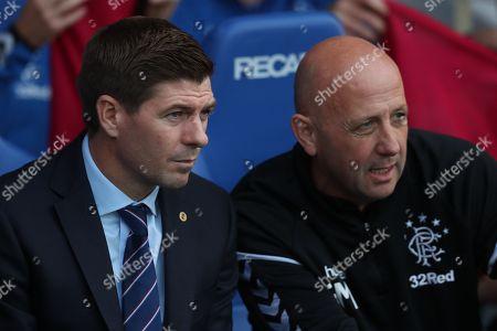 Rangers manger Steve Gerrard and his assistant Gary McAliister