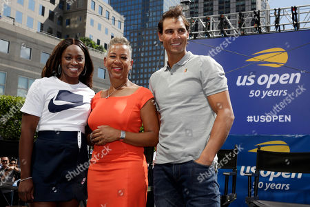 Slaone Stevens, Katrina Adams, Rafael Nadal. Defending champions Sloane Stephens, left, and Rafael Nadal flank USTA President and CEO Katrina Adams during the reveal of the 2018 U.S. Open draw in New York, . Serena and Venus Williams could be headed toward their earliest Grand Slam meeting in 20 years, facing a potential third-round matchup at the U.S. Open