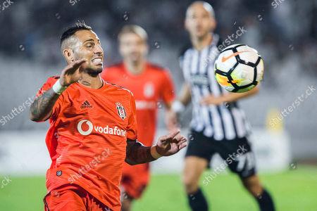 Ricardo Quaresma of Besiktas trie to menage the ball