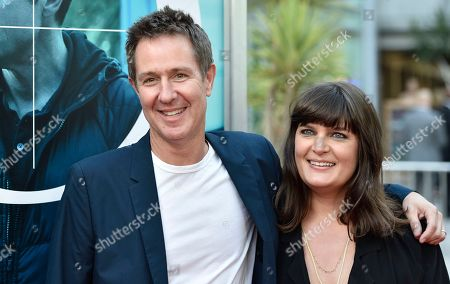 "Stock Photo of Chris Mundy, Amanda Marsalis. Showrunner/executive producer Chris Mundy, left, and director Amanda Marsalis arrive at special screening of ""Ozark"" Season 2 at Arclight Hollywood, in Los Angeles"