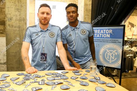 Editorial image of New York FC meets fans at Adidas store, USA - 23 Aug 2018