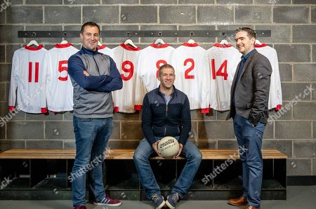 Stock Image of Pictured is Brian McGuigan, Kevin Hughes and Mark Harte who have teamed up today to announce the documentary TÍR EOGHAIN: THE UNBREAKABLE BOND which will air this Sunday August 26th at 8.30pm on TG4. The EMM Production tells the story of how Mickey Harte?s minor teams of 1997 and 1998, despite the despairing lows, went on to drive their county to three All Ireland senior titles. Ahead of next week?s All Ireland final against Dublin, Journalist Eamon Mallie?s documentary examines how a county that had failed to win Sam Maguire before 2003 found the belief to become champions.