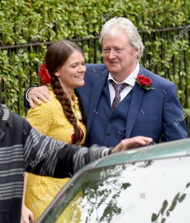 Stock Photo of Hannah Ellis Ryan joins Coronation Street to play Katie McDonald, she is pictured with Charlie Lawson who plays Jim McDonald