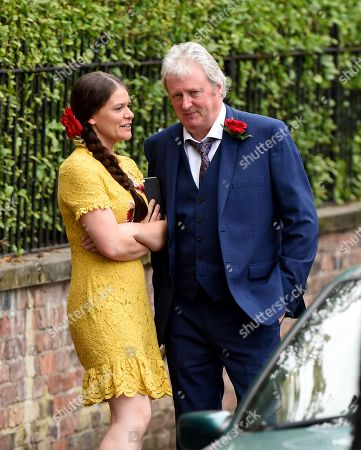 Stock Picture of Hannah Ellis Ryan joins Coronation Street to play Katie McDonald, she is pictured with Charlie Lawson who plays Jim McDonald