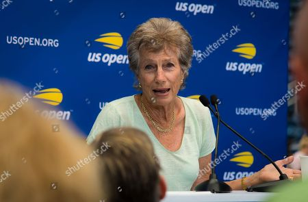 Virginia Wade during Media Day at the 2018 US Open Grand Slam tennis tournament