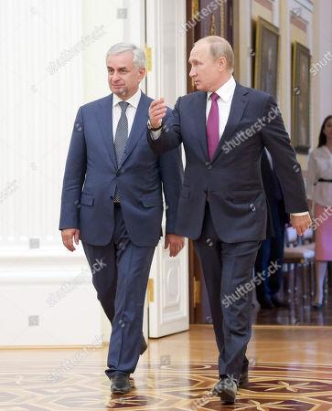 Editorial photo of Abkhazian President Raul Khajimba visit to Moscow, Russia - 24 Aug 2018