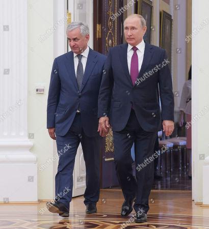Editorial image of Abkhazian President Raul Khajimba visit to Moscow, Russia - 24 Aug 2018