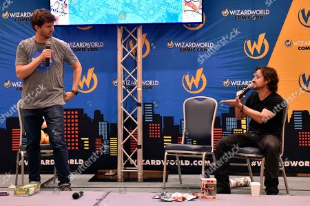 John Heder, Thomas Ian Nicholas. John Heder and Thomas Ian Nicholas seen on Day 1 at Wizard World Comic-Con at the Donald E Stephens Convention Center, in Rosemont, IL