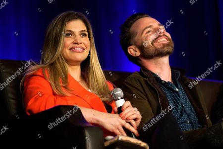 Danielle Fishel, Rider Strong. Danielle Fishel and Rider Strong seen on Day 1 at Wizard World Comic-Con at the Donald E Stephens Convention Center, in Rosemont, IL