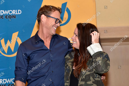 Stock Picture of Brian Krause, Holly Marie Combs. Brian Krause and Holly Marie Combs make an appearance on Day 1 at Wizard World Comic-Con at the Donald E Stephens Convention Center, in Rosemont, Ill