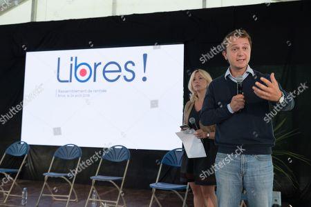 Editorial photo of Libres! political party event, Brive-la-Gaillarde, France - 24 Aug 2018