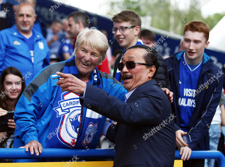 Cardiff City owner Vincent Tan with the fans