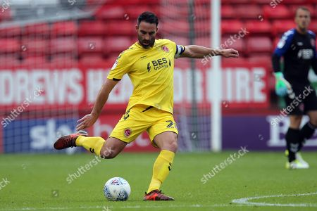 Craig Morgan of Fleetwood Town during Charlton Athletic vs Fleetwood Town, Sky Bet EFL League 1 Football at The Valley on 25th August 2018