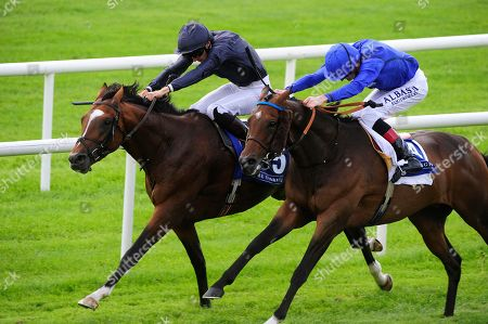 CURRAGH. FLAG OF HONOUR and Donnacha O'Brien (left) beats off TWILIGHT PAYMENT, GIUSEPPE GARIBALDI, SOUTHERN FRANCE and THOMAS HOBSON for trainer Aidan O'Brien.