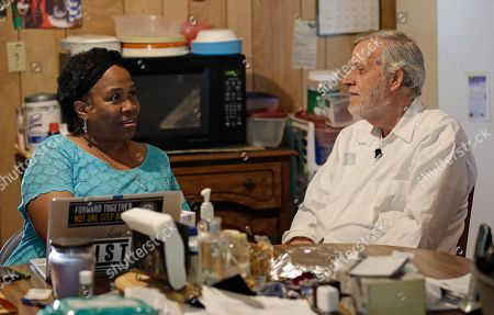 Al McSurely, O'Linda Williams. Civil rights attorney Al McSurely and his wife O'Linda Williams sit together in the kitchen of their home in Carthage, N.C. As the Poor People's Campaign launches a massive initiative to sign up people to support the movement and to vote, its leaders are working with the generation of civil rights activists who stood with the Rev. Martin Luther King and have continued his work. The Rev. William Barber is co-chair of the Poor People's Campaign. He says he turns to those who came before him: leaders such as the Rev. Jesse Jackson, children's advocate Marian Wright Edelman, and attorney Al McSurely