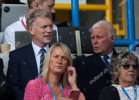Manager David Moyes watches from the stands