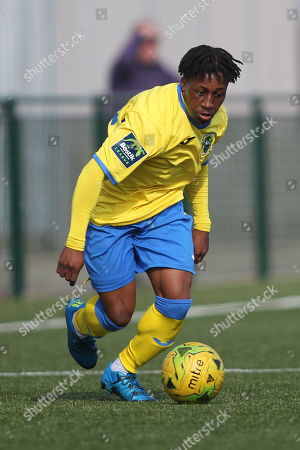Michael Ademiluyi of Haringey during Haringey Borough vs Stanway Rovers, Emirates FA Cup Football at Coles Park Stadium on 25th August 2018