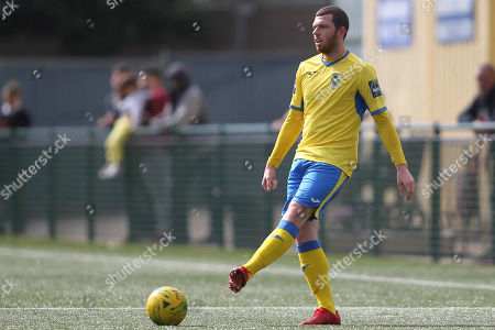 Michael O'Donoghue of Haringey during Haringey Borough vs Stanway Rovers, Emirates FA Cup Football at Coles Park Stadium on 25th August 2018
