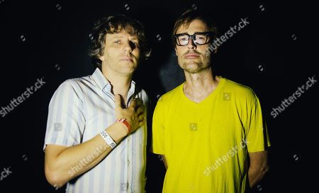 Nic Offer of !!! (chk chk chk) and Ian Williams of Battles