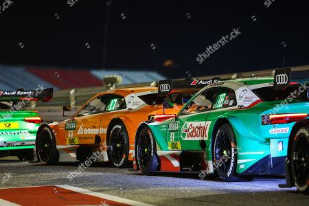 Motorsports: DTM race Misano, Saison 2018 - 7. Event Misano, ITA, Jamie Green ( GB, Audi Sport Team Rosberg ), Nico Müller (SUI, Audi Sport Team Abt )