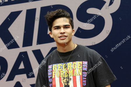 Alex Aiono attends Arthur Ashe Kids' Day at the USTA Billie Jean King National Tennis Center, in New York