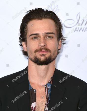 Jon-Michael Ecker arrives at the 33rd annual Imagen Awards, at the JW Marriott L.A. Live in Los Angeles