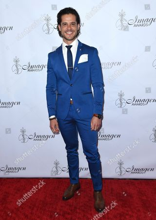 Stock Image of Miles Gaston Villanueva arrives at the 33rd annual Imagen Awards, at the JW Marriott L.A. Live in Los Angeles