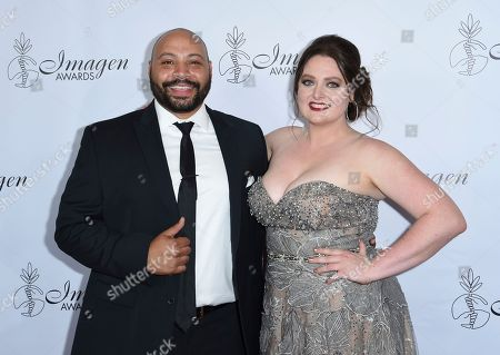 Colton Dunn, Lauren Ash. Colton Dunn, left, and Lauren Ash arrive at the 33rd annual Imagen Awards, at the JW Marriott L.A. Live in Los Angeles