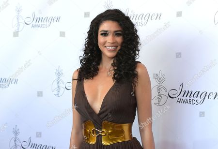 Karina Ortiz arrives at the 33rd annual Imagen Awards, at the JW Marriott L.A. Live in Los Angeles