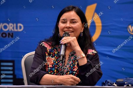 Diana Gabaldon seen on Day 2 at Wizard World Comic-Con at the Donald E Stephens Convention Center, in Rosemont, IL