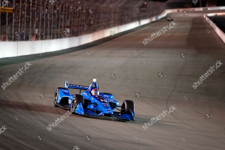 Ed Jones heads into turn one during an IndyCar auto race at Gateway Motorsports Park, in Madison, Ill
