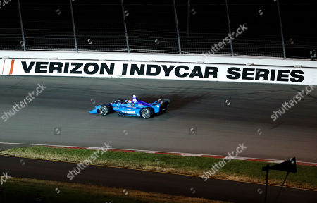 Ed Jones drives through turn two during an IndyCar auto race at Gateway Motorsports Park, in Madison, Ill