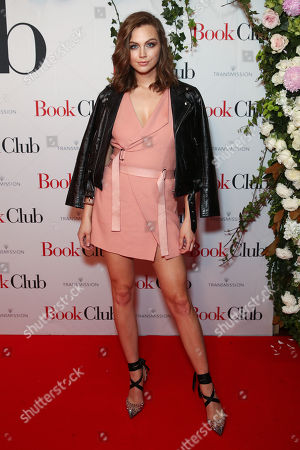 Australian model Ksenija Lukich arrives for the Australian premiere of 'Book Club' at Event Cinemas Bondi Junction, in Sydney, Austalia, 26 August 2018.
