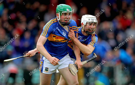 Cork vs Tipperary. Tipperary's Paddy Cadell and Craig Morgan celebrate at the final whistle