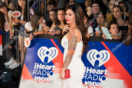 """Jenni """"JWoww"""" Farley arrives at the iHeartRadio MuchMusic Video Awards, in Toronto"""