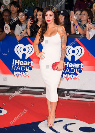 """Jenni """"JWoww"""" Farley arrives at the 2018 iHeartRadio MuchMusic Video Awards, in Toronto"""