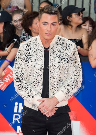Colton Haynes arrives at the 2018 iHeartRadio MuchMusic Video Awards, in Toronto