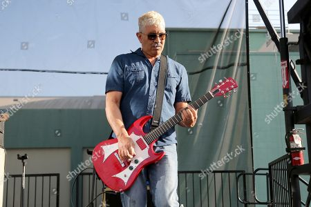 Pat Smear, Foo Fighters. Pat Smear of the Foo Fighters performs at the Cal Jam 18 Pop-Up Event at the Hollywood Palladium, in Los Angeles