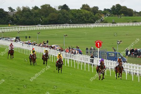 SULA ISLAND (purple) ridden to victory by Georgia King on her first ride in The Pertemps Champions Willberry Charity Derby at Epsom