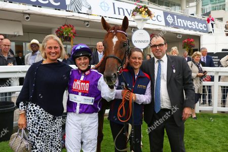 SULA ISLAND ridden to victory by Georgia King on her first ride with Alan King after The Pertemps Champions Willberry Charity Derby at Epsom