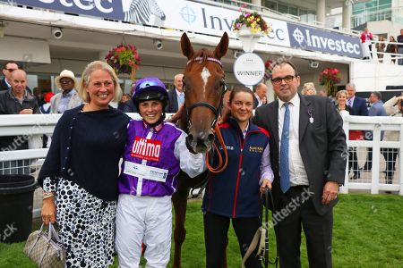 Stock Picture of SULA ISLAND ridden to victory by Georgia King on her first ride with Alan King after The Pertemps Champions Willberry Charity Derby at Epsom