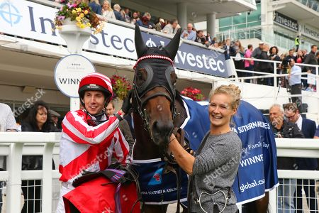 CARLTON FRANKIE ridden by James Sullivan after winning The China Southern Airlines Handicap Stakes at Epsom