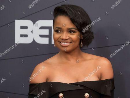 Kyla Pratt attends the Black Girls Rock! Awards at New Jersey Performing Arts Center, in Newark, N.J