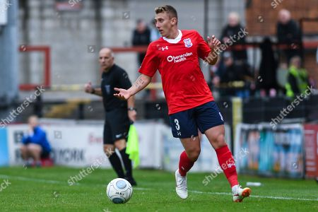Stock Picture of David Ferguson of York City (3) in action during the Vanarama National League match between York City and Blyth Spartans at Bootham Crescent, York