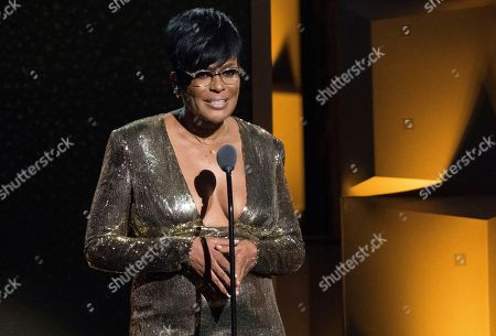 Beverly Bond speaks at the Black Girls Rock! Awards at New Jersey Performing Arts Center, in Newark, N.J