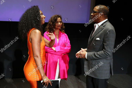 Chloe Arnold, Debbie Allen, Hayma Washington. Hayma Washington, right, Chloe Arnold, left, and Debbie Allen are seen at the 2018 Choreographers Nominee Reception on in North Hollywood, Calif