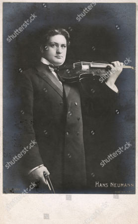 Stock Image of Hans Neumann - Violinist. Postcard