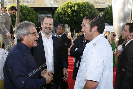 Universal's Ron Meyer, Universal's Marc Shmuger and  Adam Sandler