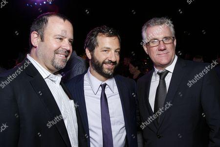 Universal's Marc Shmuger, Judd Apatow and Universal's David Linde